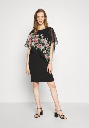 WATERLILY OVERLAYER DRESS - Vestido informal - black
