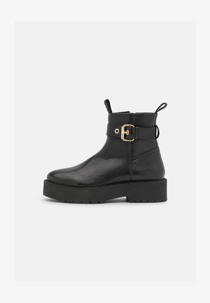 TOGETHER  - Platform ankle boots - black