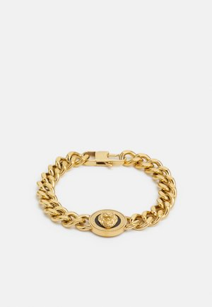 LION COIN CHAIN BRACELET UNISEX - Bracelet - gold-coloured/black