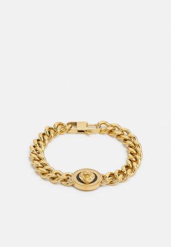 LION COIN CHAIN BRACELET UNISEX - Bracelet - gold-coloured/black