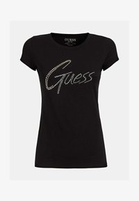 Guess - LOGO STRASS - T-shirt con stampa - schwarz - 3