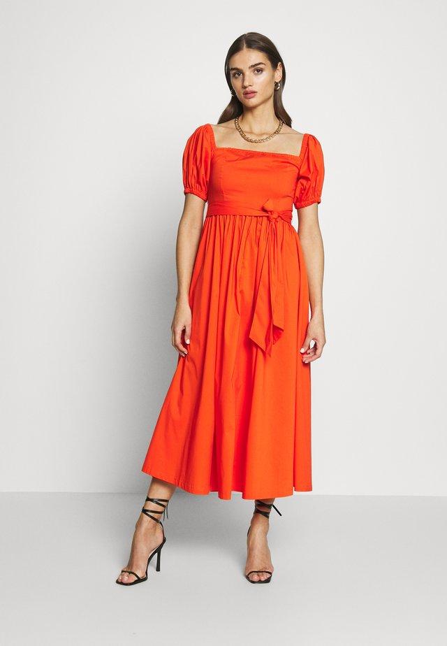 BARDOT MIDI DRESS - Denní šaty - red/orange