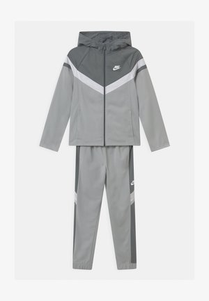 SET UNISEX - Trainingsanzug - light smoke grey/smoke grey/white