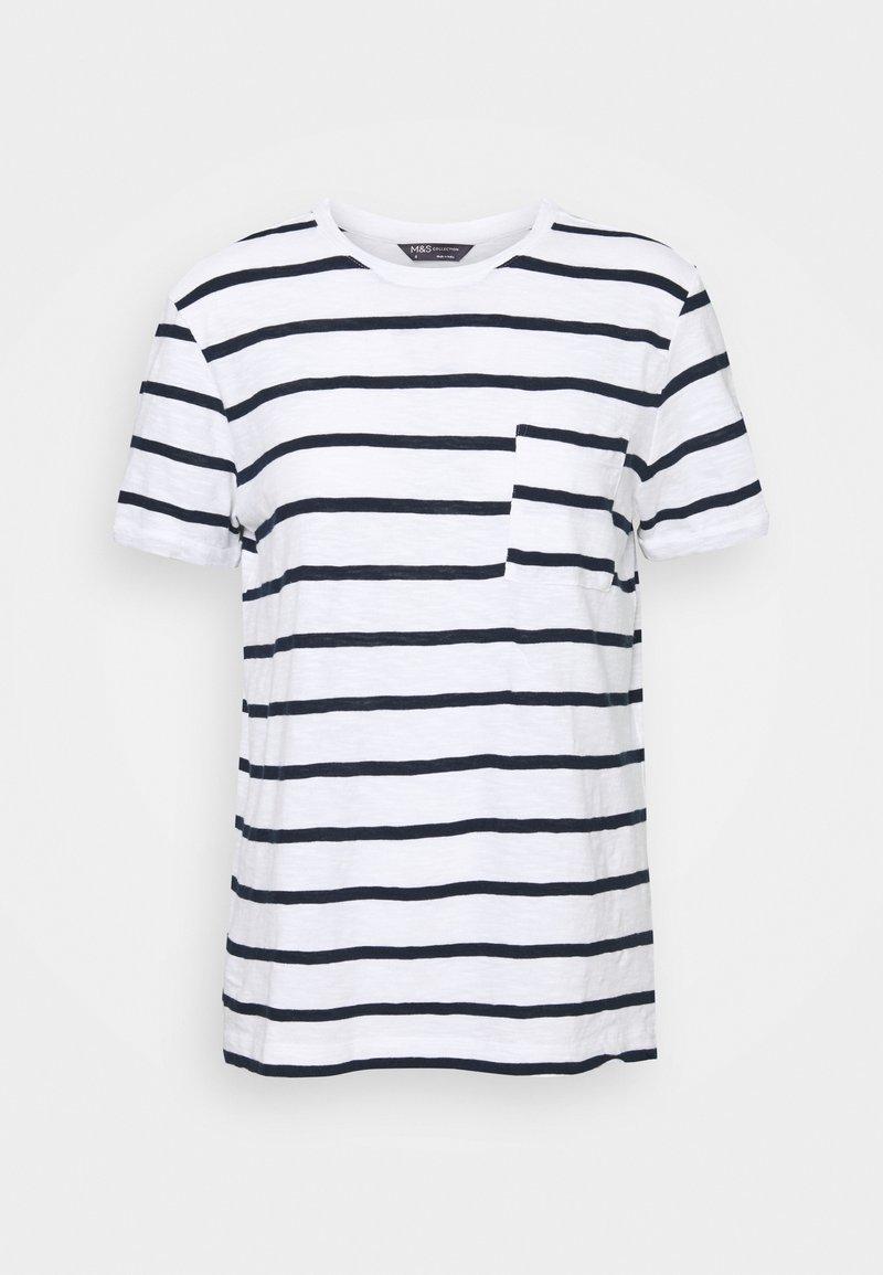 Marks & Spencer London - POCKET STRPE - Camiseta estampada - white