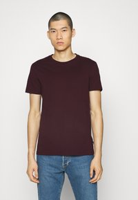 Burton Menswear London - SHORT SLEEVE CREW 5 PACK - T-shirt - bas - off white/inidgo/burgundy/dusty olive/mushroom - 4