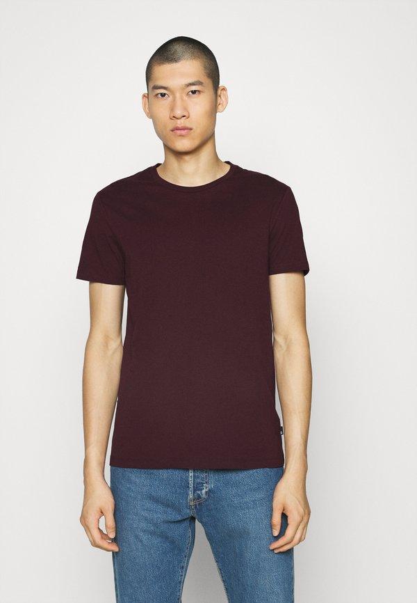 Burton Menswear London SHORT SLEEVE CREW 5 PACK - T-shirt basic - off white/inidgo/burgundy/dusty olive/mushroom/mleczny Odzież Męska QCYR