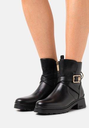 NEW NANCY 43 - Cowboy/biker ankle boot - black/grey