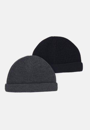 ONSSHORT BEANIE 2 PACK - Pipo - black/dark grey melange