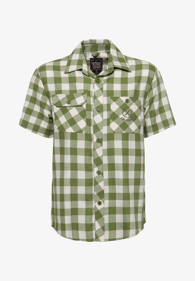 MIT STICKEREI - Overhemd - grün
