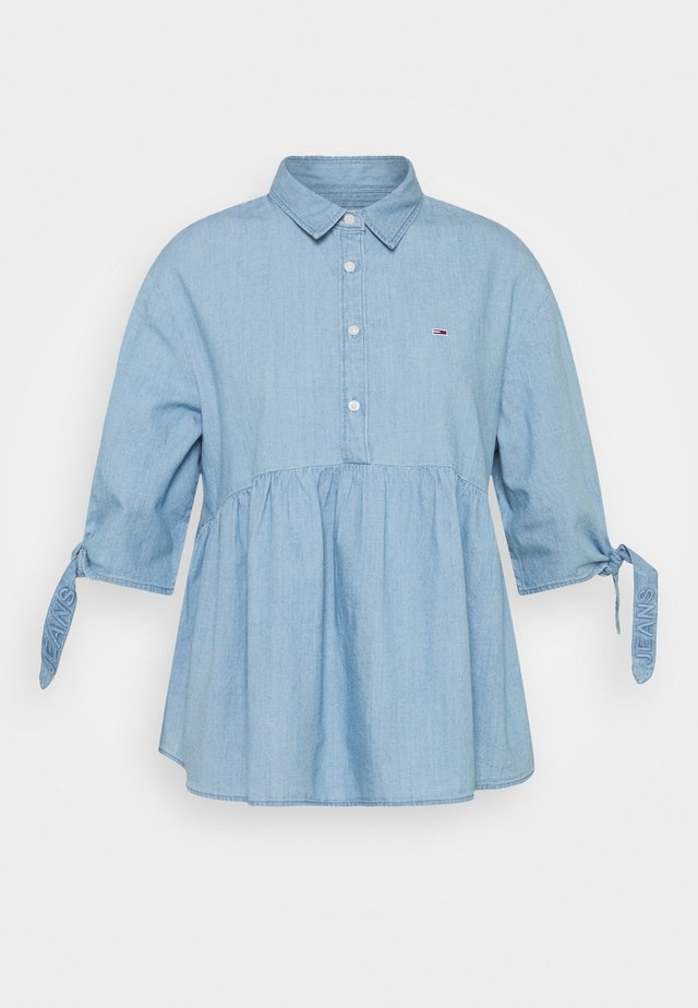 CHAMBRAY BOW SLEEVE - Chemisier - mid indigo