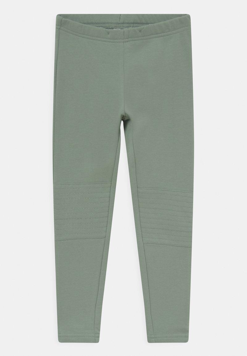 Lindex - MINI BIKER TURBO - Leggings - Trousers - light dusty green