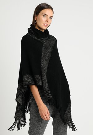 Poncho - black/gold