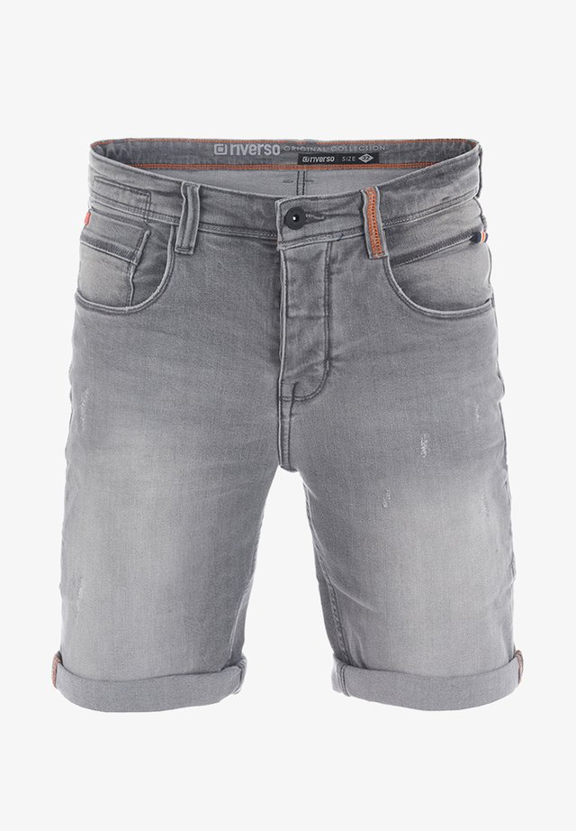 RIVTOM - Denim shorts - grey denim