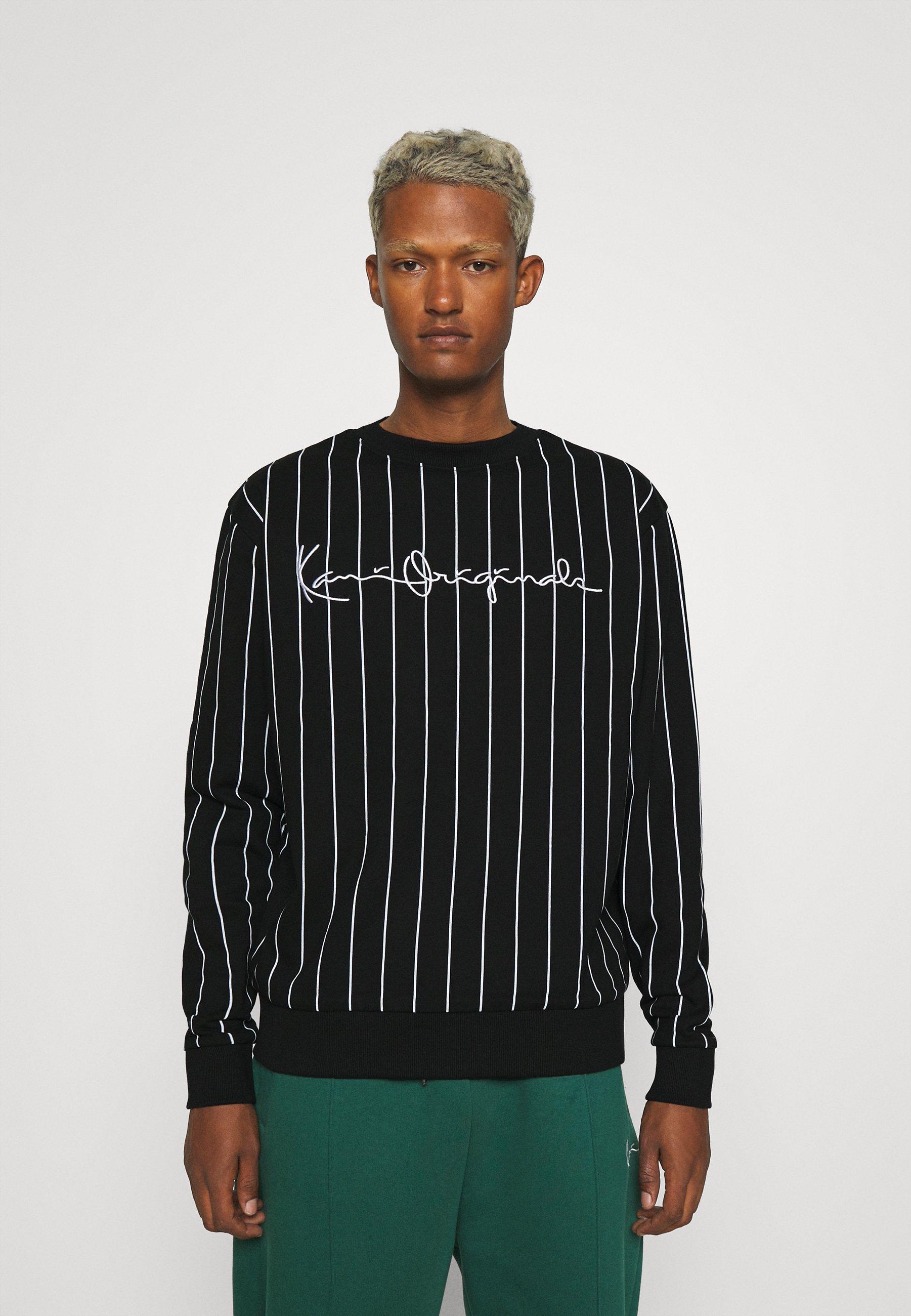 Women UNISEX ORIGINALS PINSTRIPE CREW - Sweatshirt
