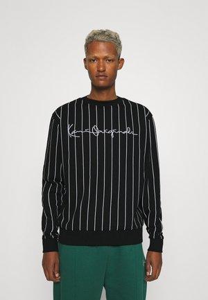 UNISEX ORIGINALS PINSTRIPE CREW - Sweatshirt - black