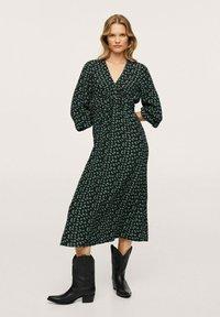 Mango - Maxi dress - groen - 1