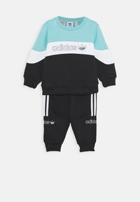 adidas Originals - CREW SET - Træningssæt - blue/white/black - 0