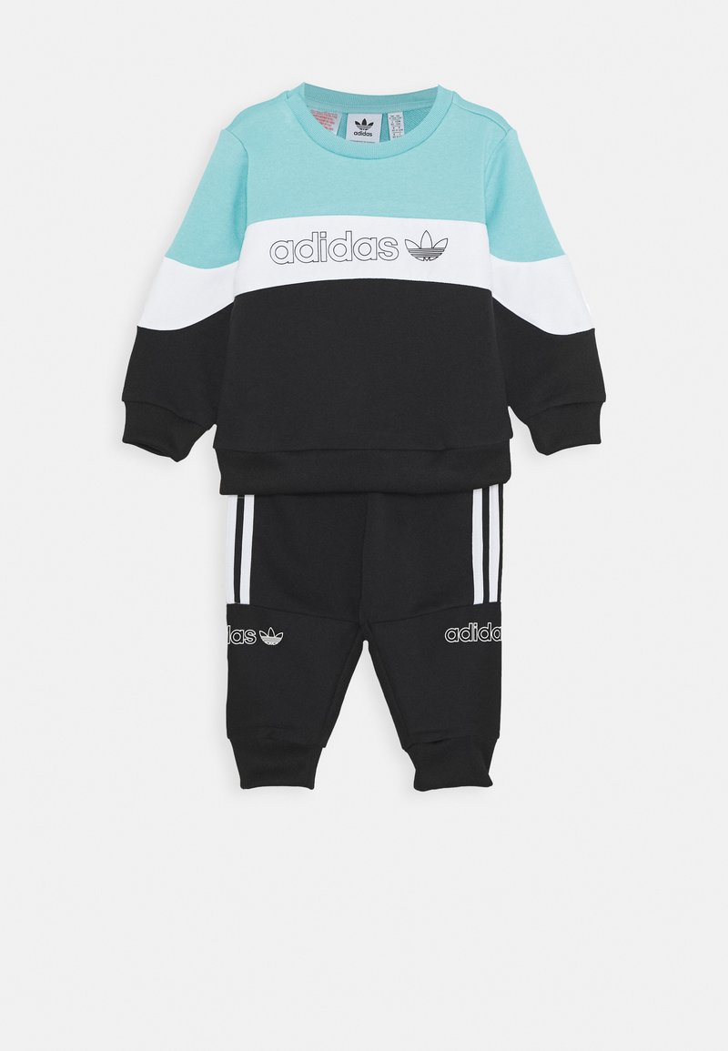 adidas Originals - CREW SET - Tracksuit - blue/white/black