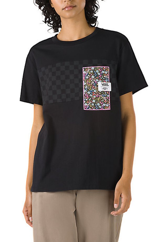 WM VANS MADE WITH LIBERTY FABRIC TEE - T-shirt con stampa - (liberty fabric) black