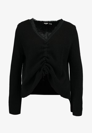 RUCHED FRONT JUMPER - Jumper - black
