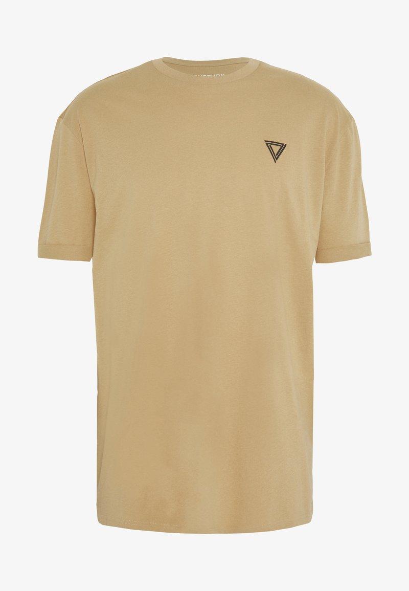 YOURTURN - T-shirt med print - tan
