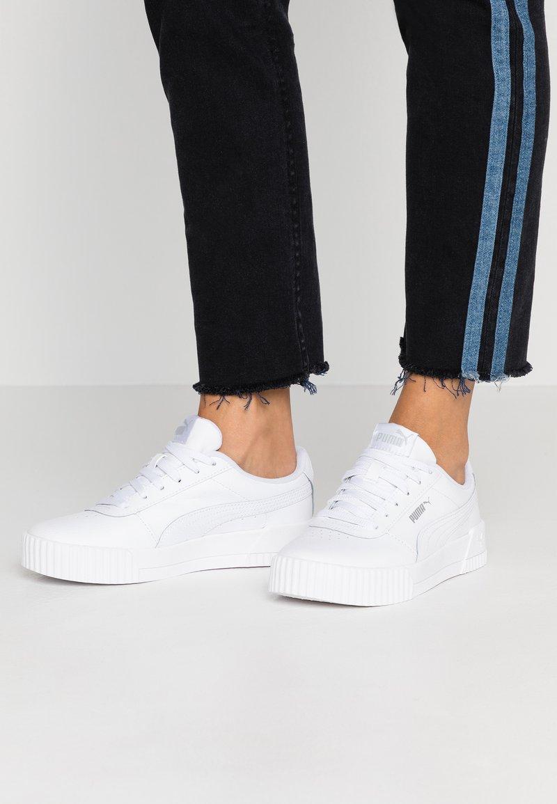 Puma - CARINA  - Sneakers basse - white/silver