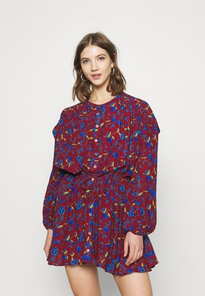 FLOWER FIELDS MINI - Day dress - burgundy combo