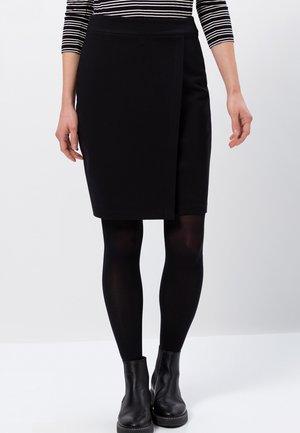 HIGH WAIST - Wrap skirt - black