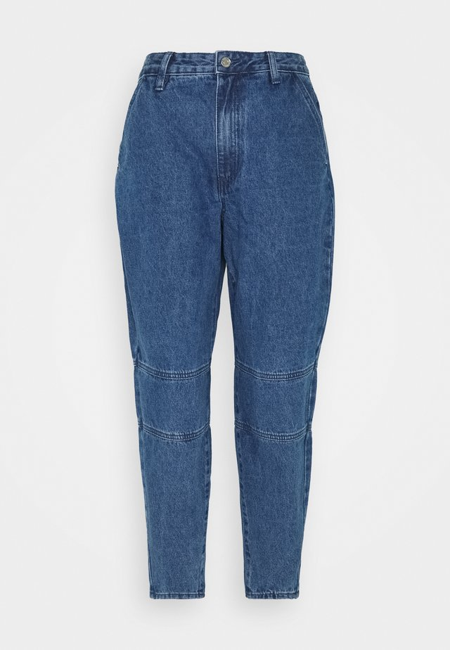 HIGH WAISTED BAGGY CARROT - Jean droit - blue