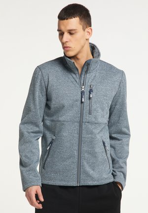 Fleece jacket - rauchmarine melange