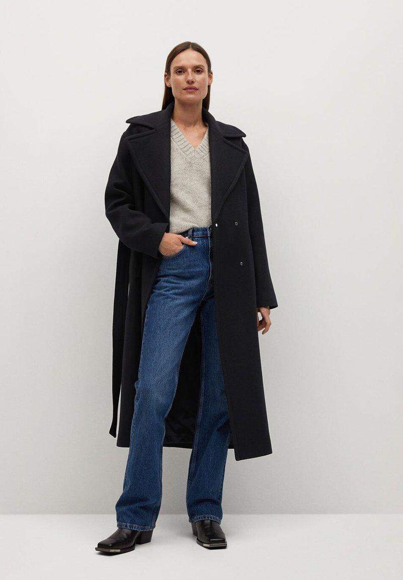 Mango - PAINT - Classic coat - schwarz