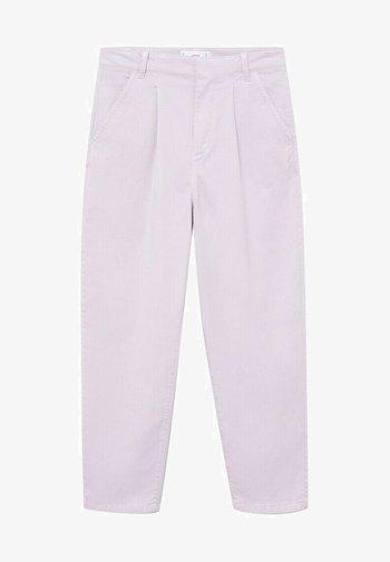 MAURO - Trousers - licht/pastelpaars