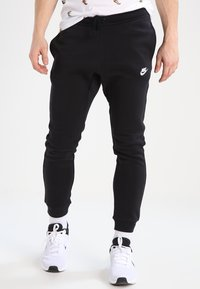 Nike Sportswear - CLUB JOGGER - Tracksuit bottoms - black - 0