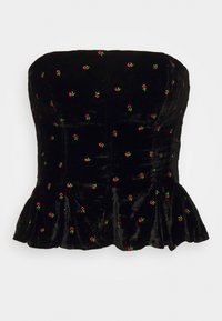 Free People - ROSIE EMBROIDERED BUSTIER - Top - black - 4