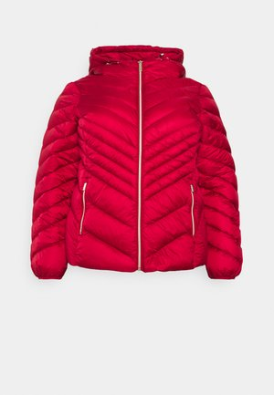 SHORT PACKABLE CHEVRON - Down jacket - crimson