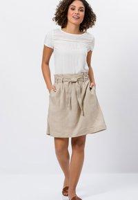 zero - A-line skirt - beige - 1