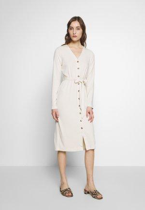 BUTTON DOWN COLUMN - Jersey dress - cream
