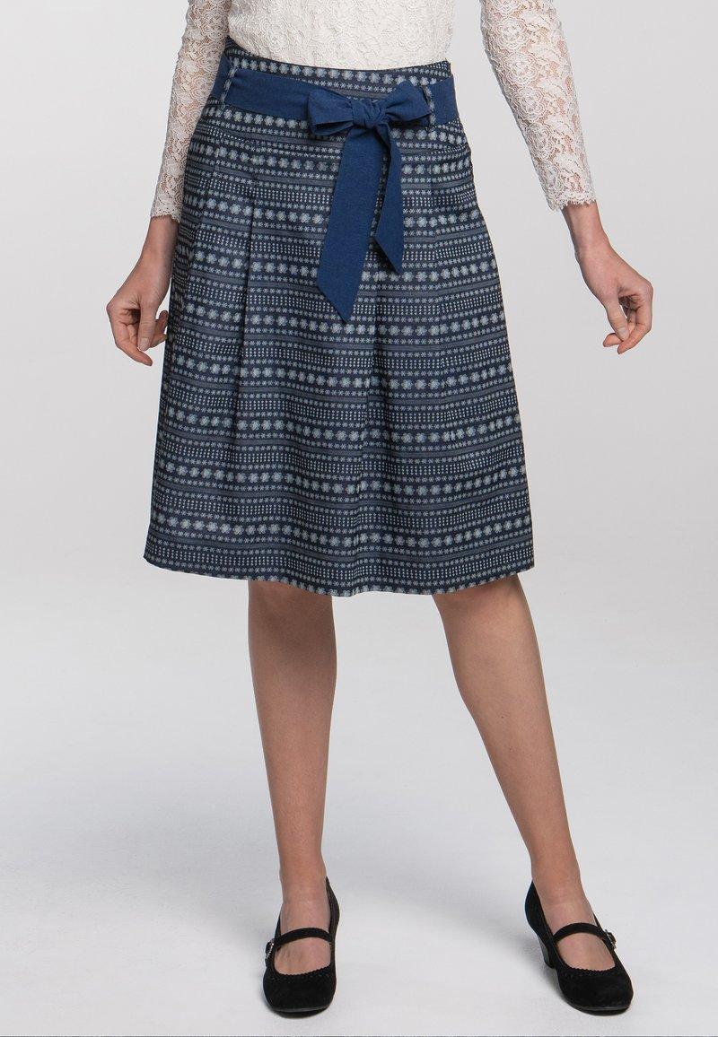 Spieth & Wensky - A-line skirt - dunkelblau