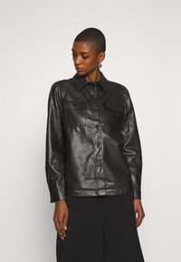 Freequent - Button-down blouse - black - 0