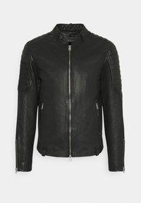 MARCON JACKET - Leather jacket - black