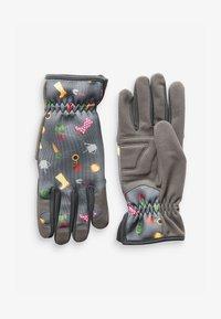 Next - FLORAL PRINT GARDENING - Gloves - grey - 0