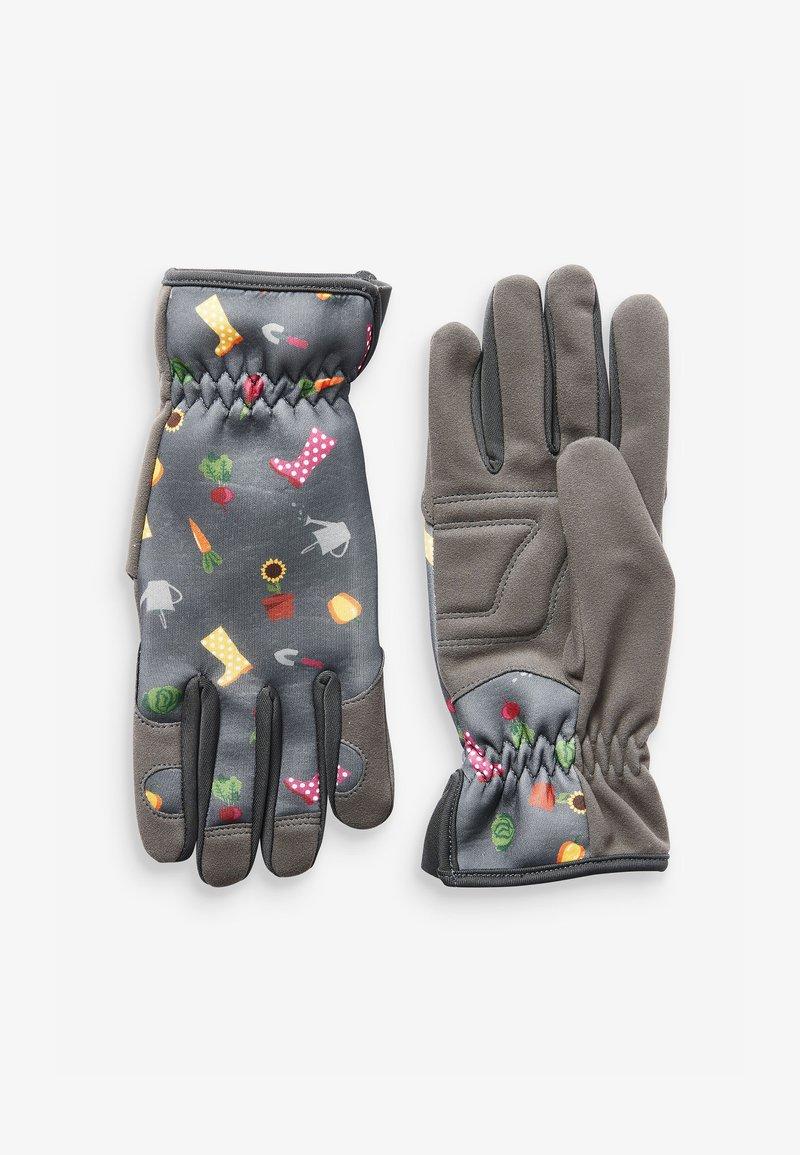 Next - FLORAL PRINT GARDENING - Gloves - grey