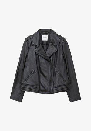 ONETIOR - Leather jacket - schwarz