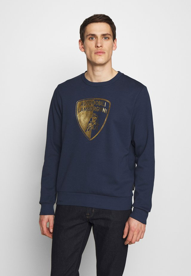 GOLD SHIELD LOGO CREW - Long sleeved top - prussian blue
