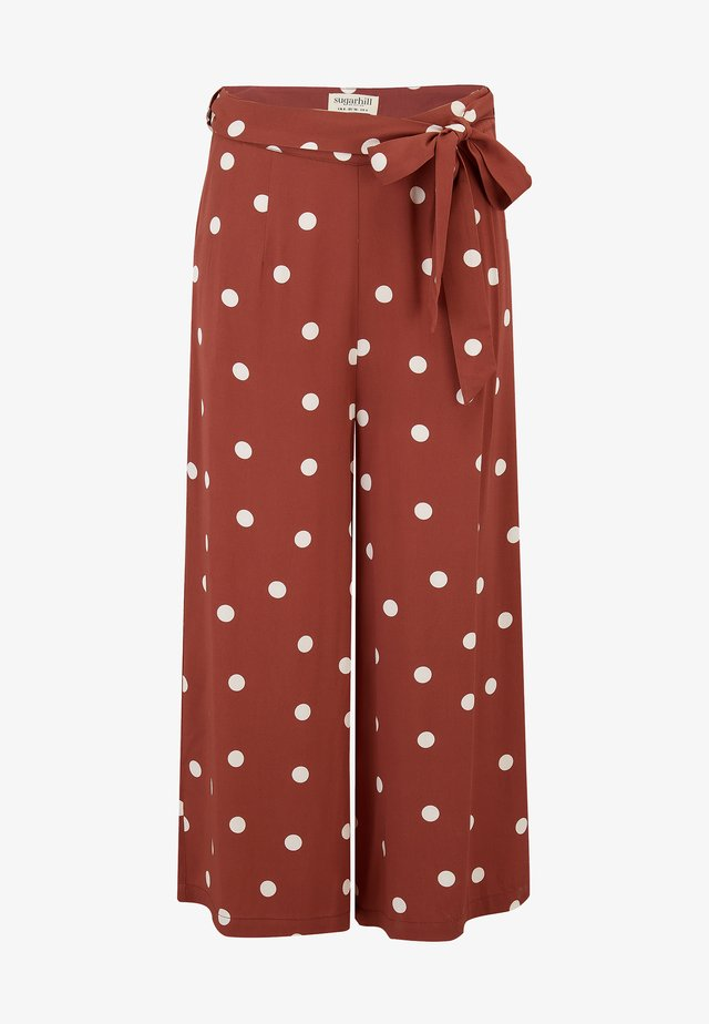 OTTILIE POLKA - Trousers - brown