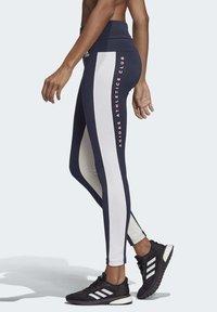 adidas Performance - KEY POCKET LEGGINGS - Legginsy - blue/white - 3