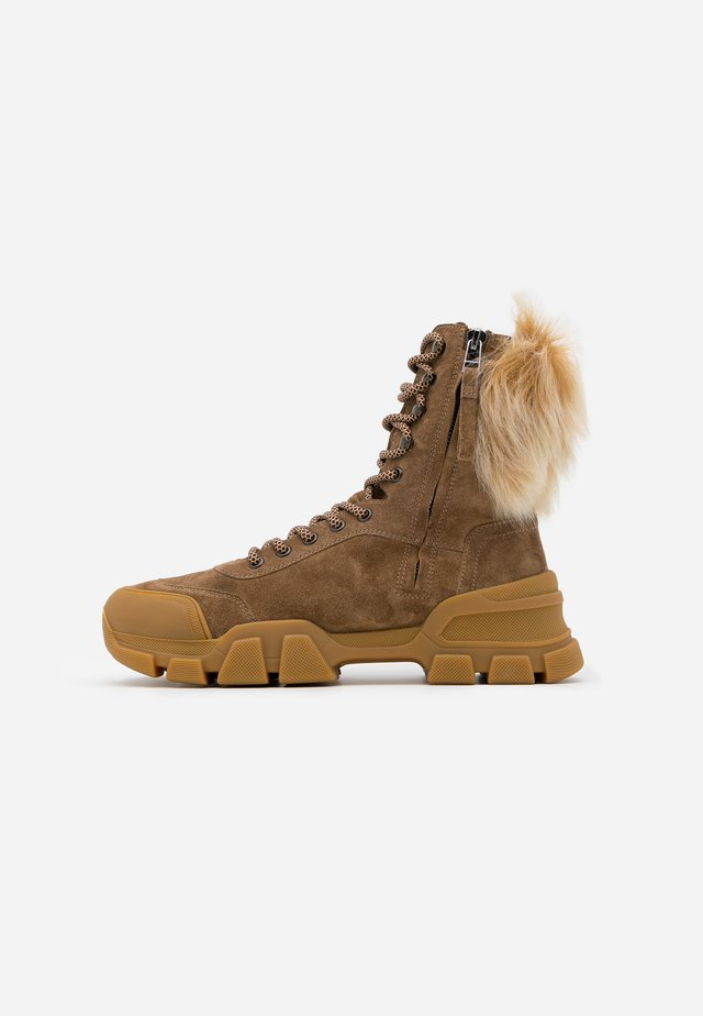 ACE - Platform ankle boots - wood