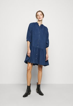 LINJA - Denim dress - mid blue