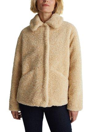 AUS FAKE FUR - Winter jacket - cream beige