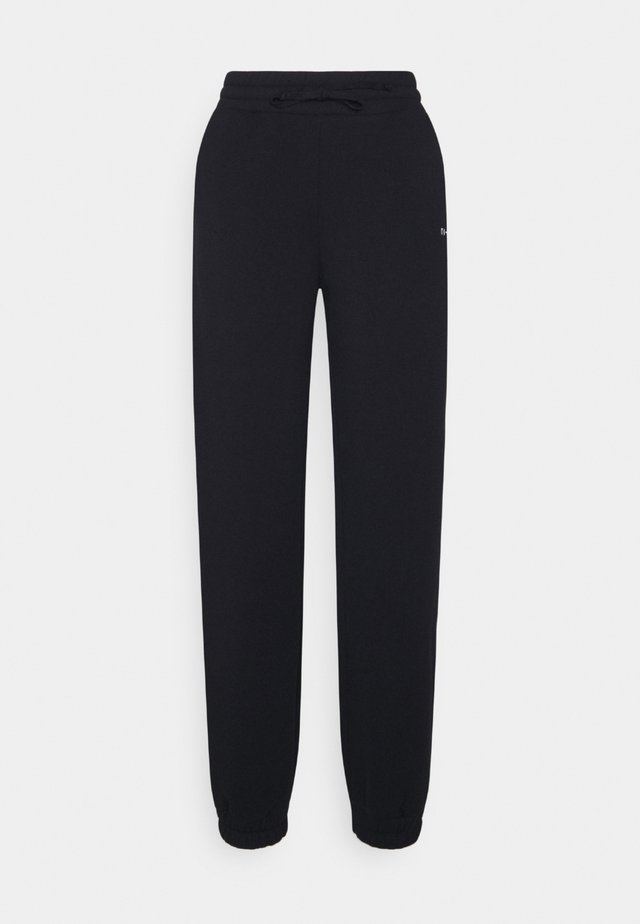 HIGH WAIST TAPERED FIT JOGGERS - Pantalon de survêtement - black